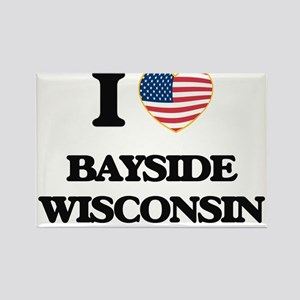 I love Bayside Wisconsin Magnets