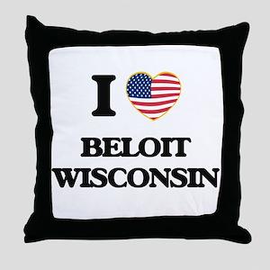 I love Beloit Wisconsin Throw Pillow