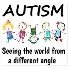 Autism...seeing the world from a different angle Framed Print