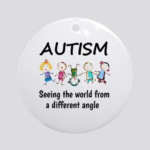 Autism...seeing the world from a di Round Ornament
