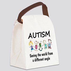 Autism...seeing the world from a  Canvas Lunch Bag