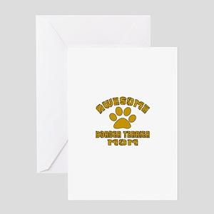 Awesome Border Terrier Mom Dog Desig Greeting Card