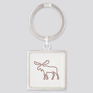 Moose Outline Keychains