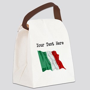 Italy Flag (Distressed) Canvas Lunch Bag