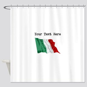 Italy Flag (Distressed) Shower Curtain