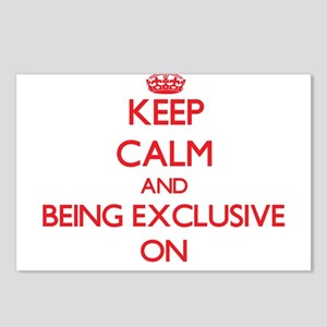 Keep Calm and BEING EXCLU Postcards (Package of 8)
