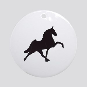 Walking Horse Silhouette Ornament (Round)