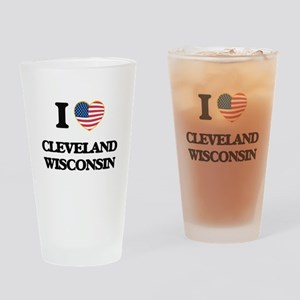 I love Cleveland Wisconsin Drinking Glass