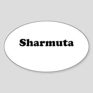 Sharmuta Oval Sticker