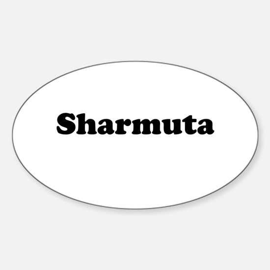 Sharmuta Oval Decal