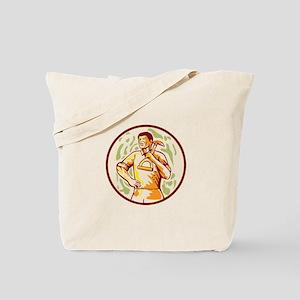 Gardener Landscaper Shovel Cartoon Tote Bag