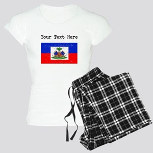 Haiti Flag (Distressed) Pajamas
