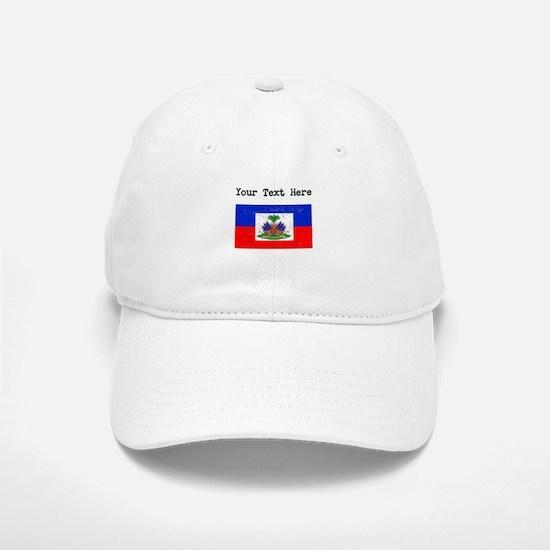 Haiti Flag (Distressed) Baseball Baseball Baseball Cap