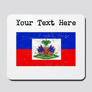 Haiti Flag (Distressed) Mousepad