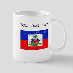 Haiti Flag (Distressed) Mugs