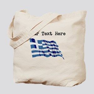 Greece Flag (Distressed) Tote Bag