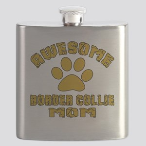 Awesome Border Collie Mom Dog Designs Flask