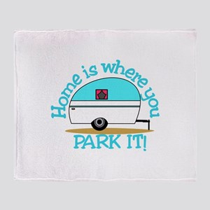 Park It Throw Blanket