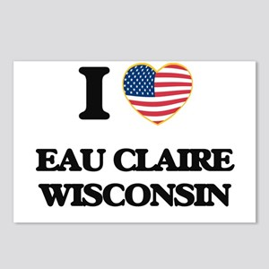 I love Eau Claire Wiscons Postcards (Package of 8)