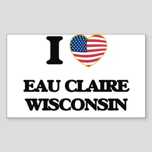 I love Eau Claire Wisconsin Sticker