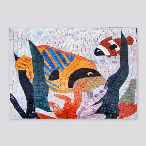 2 Tropical Fish 5'x7'Area Rug