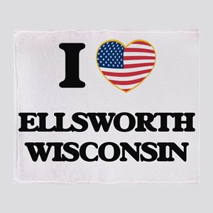 I love Ellsworth Wisconsin Throw Blanket