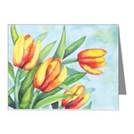 Tulips Watercolor Note Cards (Pk of 10)