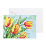 Tulips Watercolor Greeting Cards (Pk of 20)