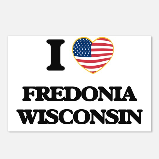I love Fredonia Wisconsin Postcards (Package of 8)