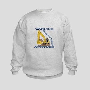 Warning Excavator With An Attitude Sweatshirt