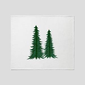 Trees Throw Blanket