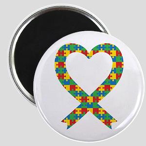 """Autism Puzzle Piece Heart 2.25"""" Magnet (100 pack)"""