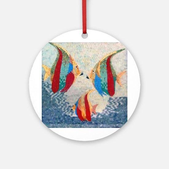 Angel Fish Ornament (round)