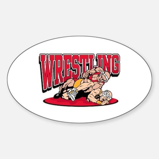 Wrestling Takedown Sticker (Oval)