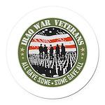 Iraq War Veterans Round Car Magnet