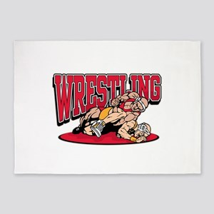 Wrestling Takedown 5'x7'Area Rug