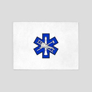 Fire and EMS Logo 5'x7'Area Rug