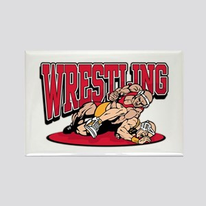 Wrestling Takedown Rectangle Magnet