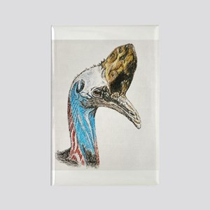 Cassowary Rectangle Magnet