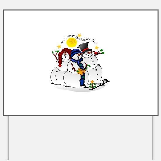Snowmen Caroling Yard Sign