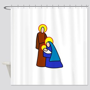 Bible Characters Shower Curtain