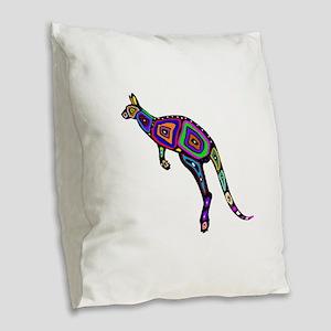 HOP TO IT Burlap Throw Pillow