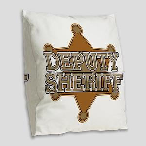 Deputy Sheriff Burlap Throw Pillow