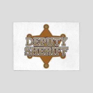 Deputy Sheriff 5'x7'Area Rug