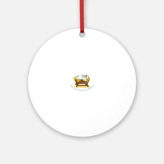 Glory to God Ornament (Round)