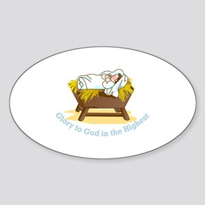 Glory to God Sticker