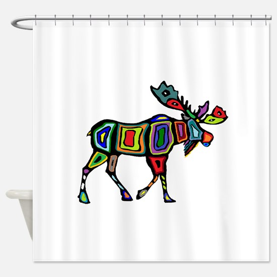 MOOSE STYLED Shower Curtain