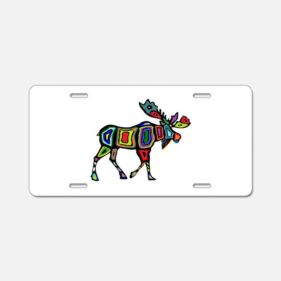 MOOSE STYLED Aluminum License Plate