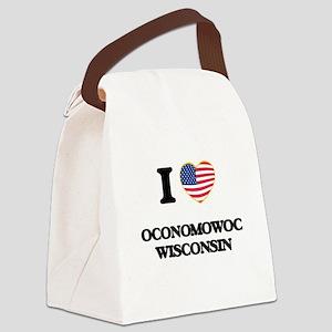 I love Oconomowoc Wisconsin Canvas Lunch Bag