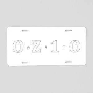 OZ10 ART Aluminum License Plate